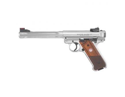 "Ruger Mark IV Hunter .22 LR 6.78"" Pistol, Stainless Steel - 40118"