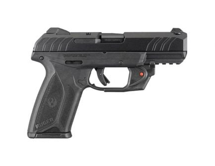 """Ruger Security 9 4"""" 9mm Pistol With Viridian Laser, Black"""