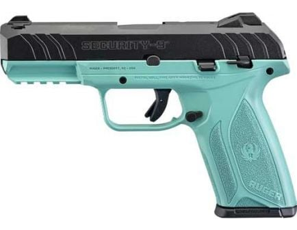 Ruger Security-9 9mm TALO Edition Black & Turquoise Pistol - 3821