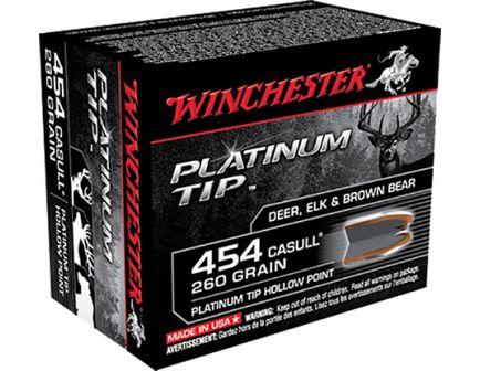 Winchester 454 Casull 260gr Platinum Tip Ammunition 20rds - S454PTHP