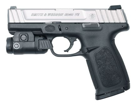 S&W SD40VE .40 S&W Pistol With Crimson Trace Tactical Light, Two Tone