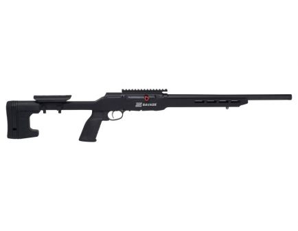 Savage A22 Precision Semi Automatic .22 LR Rifle, Black