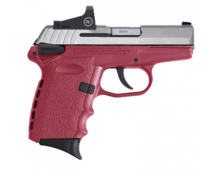 SCCY CPX-1RD 9mm Pistol, Crimson - CPX-1TTCRRD