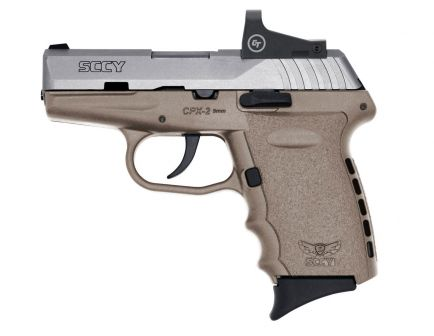 SCCY CPX-2 9mm Pistol With Red Dot Sight, FDE Stainless