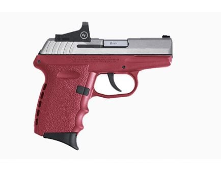 SCCY CPX-2RD 9mm Pistol, Crimson/Stainless - CPX-2TTCRRD for sale