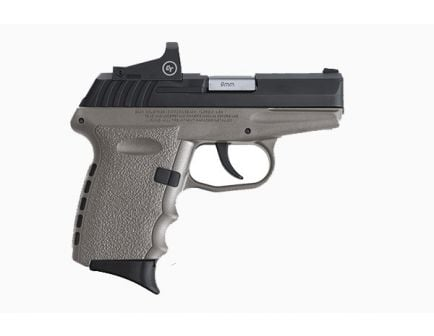 SCCY CPX-2RD 9mm Pistol, Gray/Black - CPX-2CBSGRDE