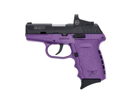 SCCY CPX-2RD 9mm Pistol, Purple/Black - CPX-2CBPURDE