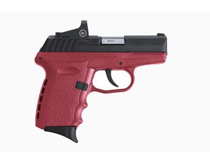 SCCY CPX-2RD 9mm Pistol, Crimson/Black - CPX-2CBCRRDE