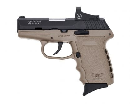 SCCY CPX-2RD 9mm Pistol, FDE/Black - CPX-2CBDERDE