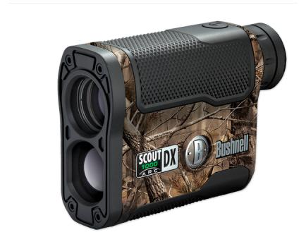 Bushnell Scout DX 1000 ARC Laser Rangefinder,Realtree Camo 202356