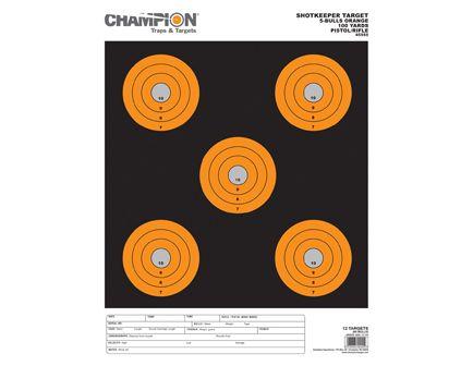 Champion SHOTKEEPER 5BULLS ORANGE LARGE 12PK 45555