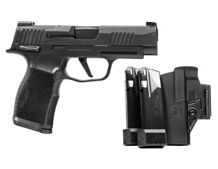 Sig P365 XL MS TacPac 9mm Pistol With 3 Mags & Holster, Black