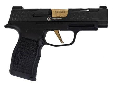 Sig P365 XL Spectre Custom Works 9mm Pistol, Black/Gold