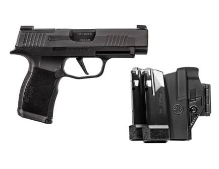 Sig Sauer P365XL TACPAC 9mm Pistol With Holster And 3 Magazines, Black
