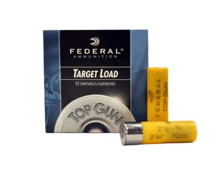 "Federal 20ga 2.75"" 2.5DE 7/8oz #8 Top Gun Ammunition, 25 Round Box - TG20 8"