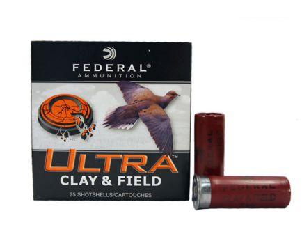 """Federal 12ga 2.75"""" #7.5 Ultra Clay & Field Shotshell Ammunition 25rds - UC12SI 7.5"""