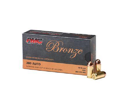 PMC Bronze .380 Auto FMJ Ammunition