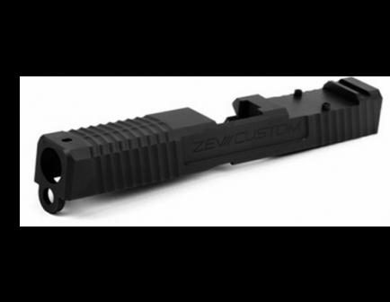 ZEV Tri-Lo Black G19 Absolute Cowitness Stripped Slide - - SLD-Z19-3G-TRI-RMR-CW.ABS-DLC