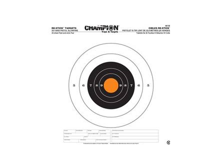Champion Re-Stick 25yd Pistol Slowfire Target (14.5x14.5) 46100
