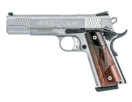 Smith & Wesson 1911 Engraved .45 ACP Pistol, Stainless
