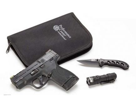 "Smith & Wesson M&P9 Shield Plus 9mm Pistol EDC Kit 9mm 13rd 3.1"" - 13255"