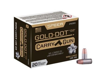Speer Gold Dot Carry Gun 9mm 135gr HP 20rds