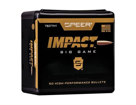 Speer Impact Big Game 150 gr Tipped Plated .277 Cal Bullets, Pack of 50