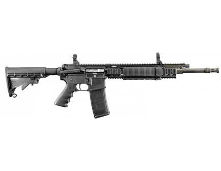 """Ruger SR-556FB 5.56 NATO AR-15 Rifle 18"""" Barrel with Black Synthetic Collapsible Stock 5902"""