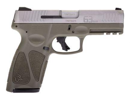 Taurus G3 9mm Pistol, Stainless/OD Green