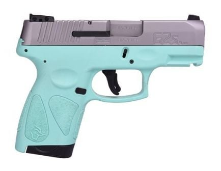 Taurus G2S 9mm Stainless and Cyan Pistol - 1-G2S939C