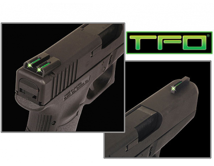 TruGlo TFO Sight Set Tritium / Fiber Optic Green, Fits Glock 42 - TG131GT1A