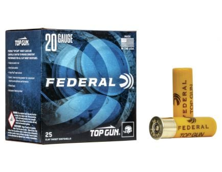 "Federal 20ga 2.75"" 2.5DE 7/8oz #9 Top Gun Ammunition 25rds - TG20 9"