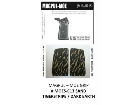 Decal Grips MagPul MOE Grip only Tiger Stripe Dark Earth-Sand MOE-C13