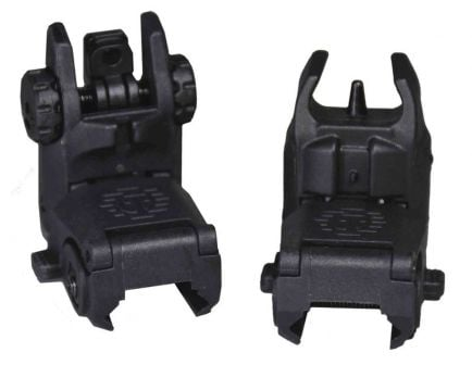 Tippmann Arms Front And Rear Flip Up Sights, Black