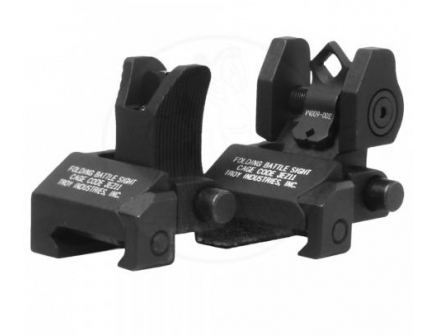 Troy BattleSight Micro M4 Front & Di-Optic Aperture Rear Set Black - SSIG-MCM-SSBT-00