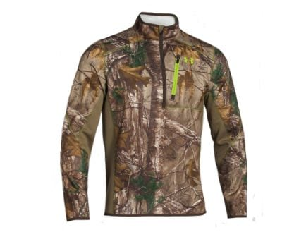 UA Men's ColdGear Infrared SC Zip Fleece,  Realtree Xtra (Front)