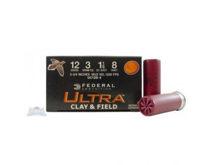 """Federal 12ga 2.75"""" 1-1/8oz #8 Ultimate Clay & Field Shotshell Ammunition 25rds - UCL12SI 8"""