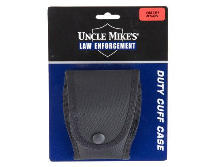 Uncle Mike's Nylon Handcuff Case w/ Flap | Black