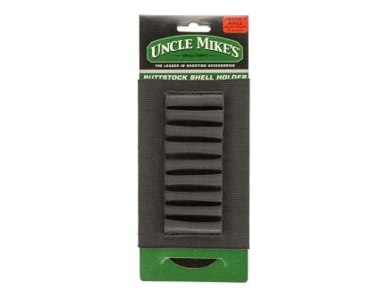 Uncle Mike's Rifle Buttstock 9 Round Shell Holder | Black
