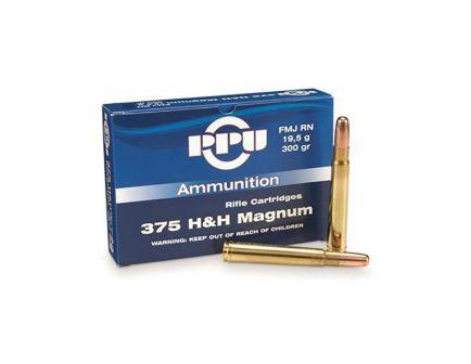 Prvi Partizan .375 H&H Magnum FMJ 300 gr 10 Rounds Ammunition - PP375F