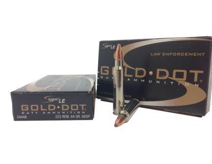 Speer .223 Remington 64gr Gold Dot Ammunition 20rds - 24448
