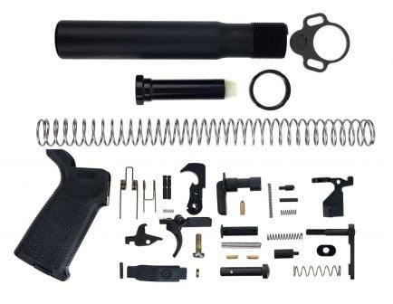 AR-15 pistol lower build kit in black
