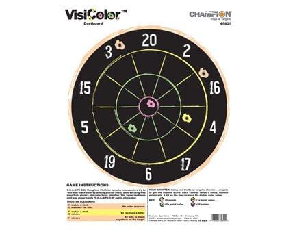 Champion VISICOLOR DARTBOARD(10/PK) 45825