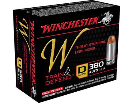 Winchester 380 Auto/ACP 95gr JHP Train & Defend Ammunition 20rds - W380D