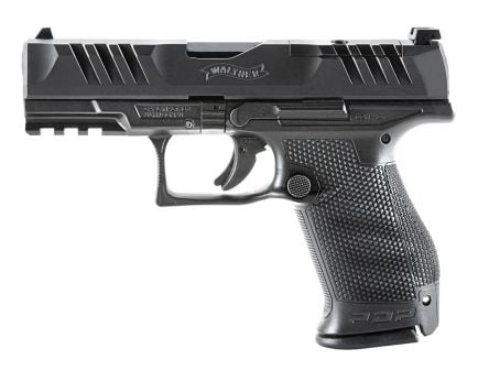 """Walther PDP Compact 4"""" OR 10 Round 9mm Pistol, Black"""
