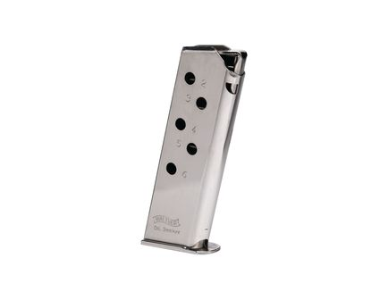 Walther Magazine: PPK: 380 Auto/ACP: 6rd Capacity Nickel - 2246009