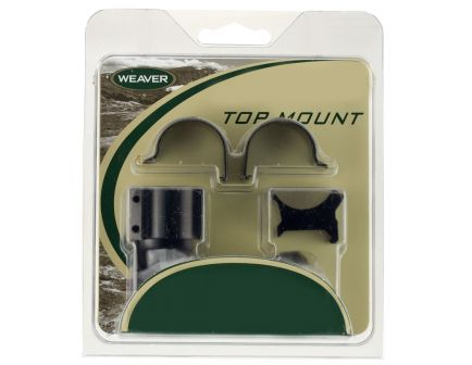 Weaver 1 inch X-High Aluminum Extended Top Mount 2-Piece Scope Ring, Gloss Black - 48448
