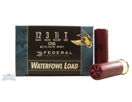 "Federal 12ga 3""1.25oz T Speed-Shok Heavy High Velocity Steel Shotshells - WF140 T"