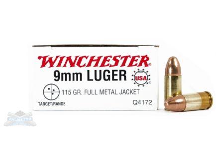 Winchester USA 9mm 115gr FMJ Ammunition 50rds - Q4172B