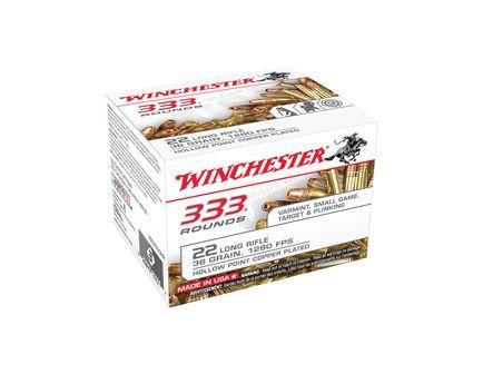 Winchester 22 Long Rifle 36gr CPHP Ammunition 333rds - 22LR333HP